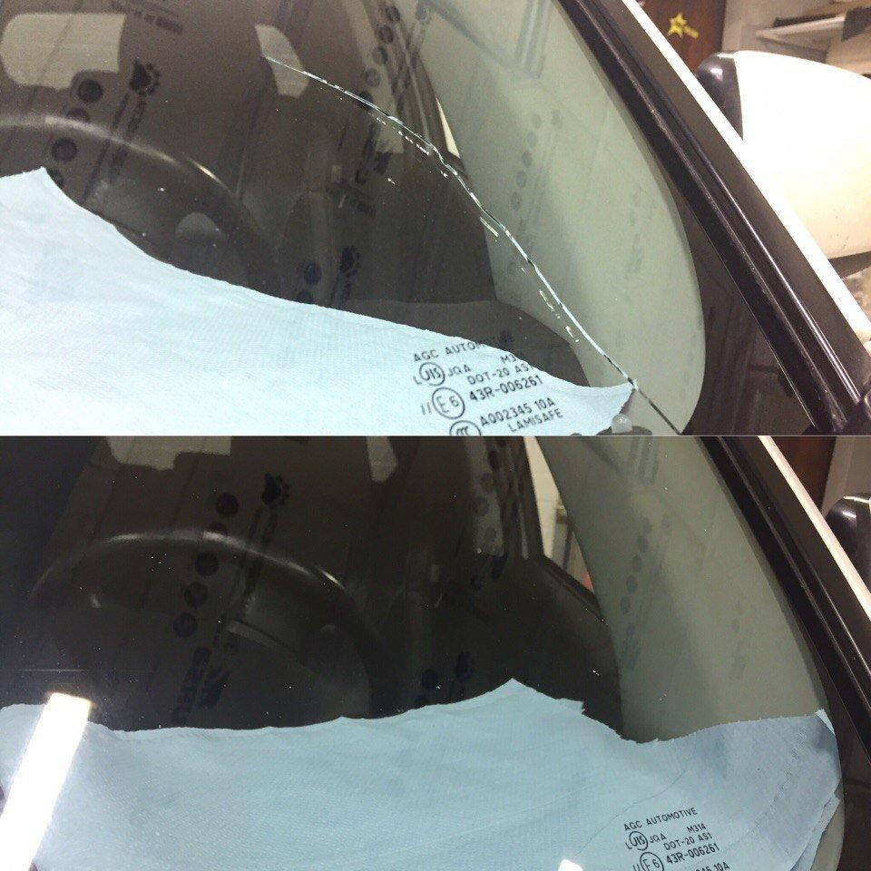 Как сделать ремонт стекла 140